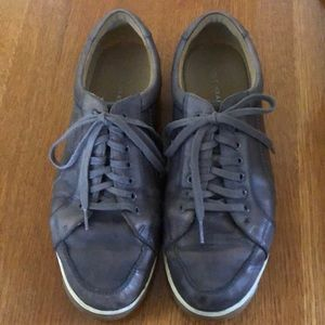 Cole Haan Leather Sneakers Gray 11
